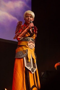 Cosplayer on stage